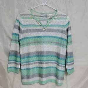 🔥ALFRED DUNNER SIZE PETITE SMALL SWEATER